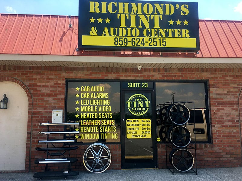 Richmond's Tint and Audio Center Show Room